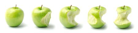 Timeline of an Apple from Whole to Eaten