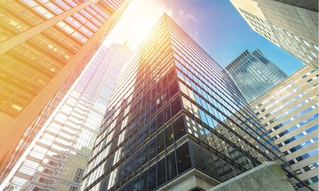 Modern office buildings in city