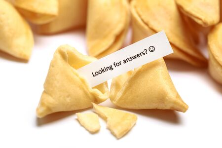 """Broken Fortune Cookie Message """"Looking for Anwers?"""""""