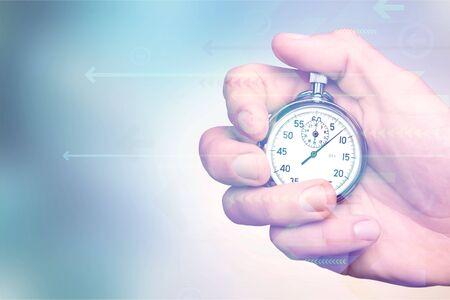 Chronomètre en main humaine