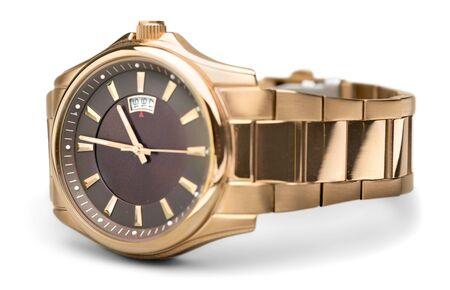 Luksusowy zegarek na rękę na białym tle Zdjęcie Seryjne