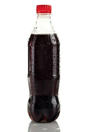 Botella de plástico de cola sin etiqueta Foto de archivo