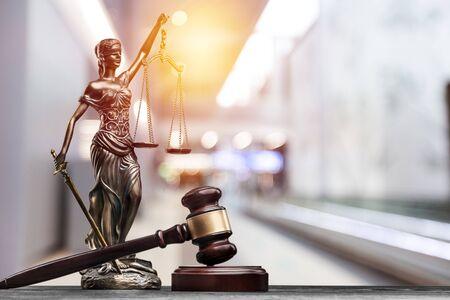 Attorney balance advocate antique beautiful blind blindfold Stockfoto
