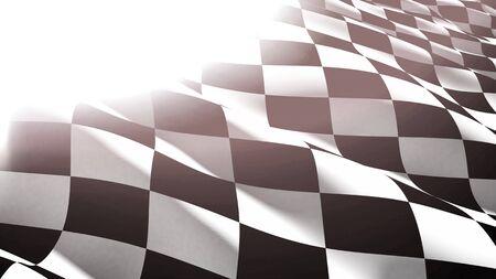 Karierte schwarz-weiße Flagge Nahaufnahme