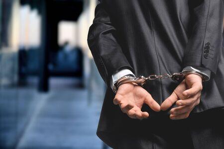 Arrest bound bracelet bribe bribery business businessman