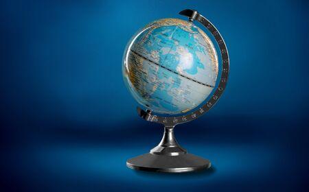 Blue globe isolated on background