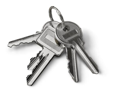 Stack of Keys isolated