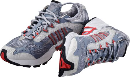 Shoes sneakers cross training shoes crosstrainers athletic shoes athletic apparel shoemen Stok Fotoğraf - 133629861