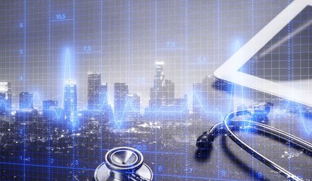 Medical examination and healthcare business graph Stockfoto