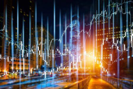 Verschillende soorten financiële en beleggingsproducten op de obligatiemarkt. dat wil zeggen REIT's, ETF's, obligaties, aandelen. Duurzaam portefeuillebeheer, vermogensbeheer op lange termijn met concept van risicospreiding. Stockfoto