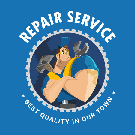 engineering tool: Modern professional creative 3d vector character graphic logo design for home house auto car repair service building engineering company tool equipment shop store etc
