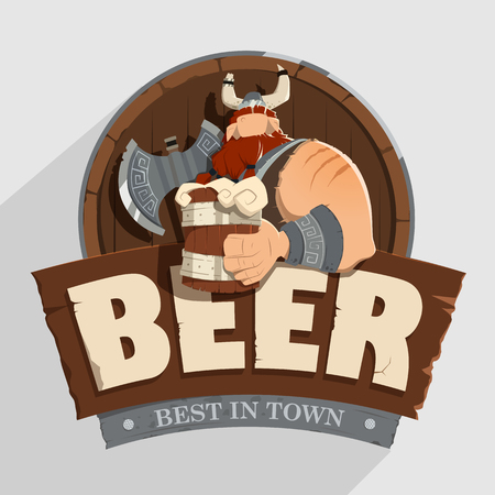 Creative wall street pub bar beer shop character sign design Old fashioned style