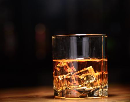 whisky glass: Luxury still life of whisky glass. Copyspace