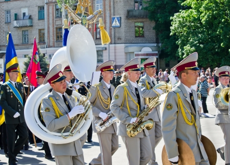 Military brass band. Victory Day, May 9