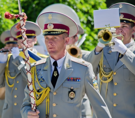 Conductor, Director, Head of . Military brass band.