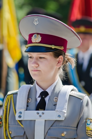 Army, brass band, female drummer, performer, one, musician