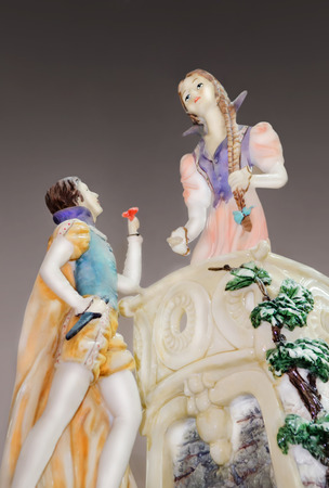 Маn giving flowers to a woman  Porcelain figurine, gift, souvenir