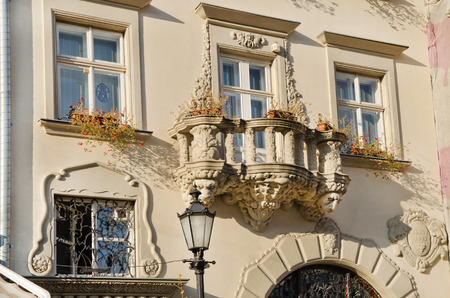 lvov: Architecture Lvov - a beautiful balcony