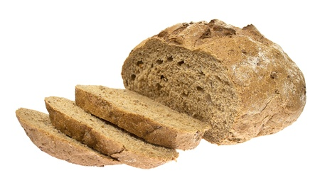The fresh country bread isolated on white background photo