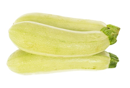 The fresh zucchini isolated on white background Stock Photo