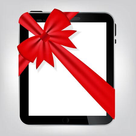 Digital tablet gift vector illustration Stock Illustration - 15813328