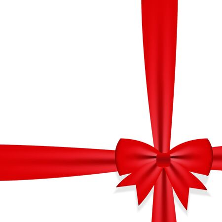 Gift bow with ribbon Vector illustration Stock Illustration - 15813327