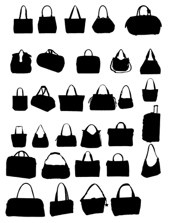silhouette bag vector illustration Illustration