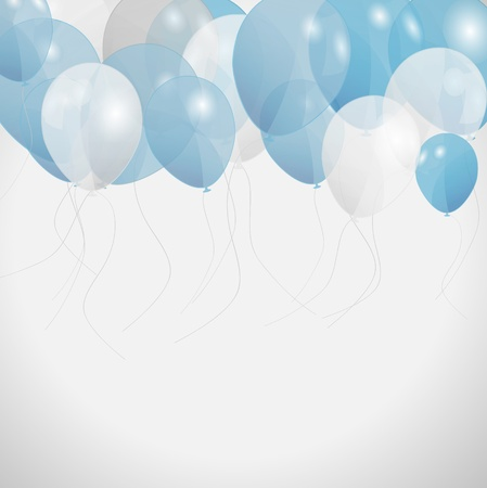 descriptive: colored balloons, vector illustration