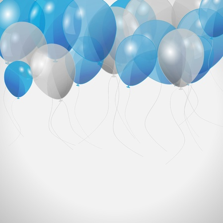 colored balloons, vector illustration Stock Vector - 15924003