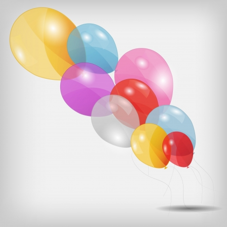 colored balloons, vector illustration Stock Vector - 15924053