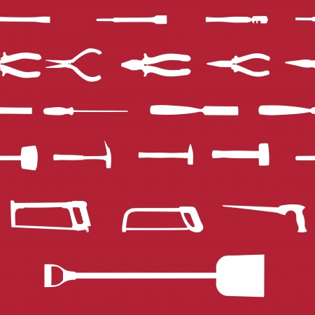 gimlet: Set of power tools seamless pattern  Vector icon Illustration