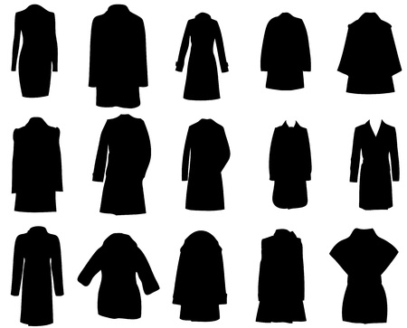 silhouette coats vector illustration eps10