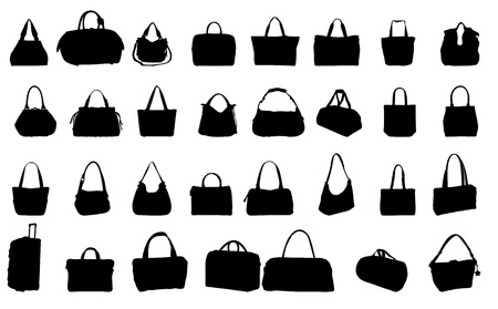 pocketbook: silhouette bag vector illustration Illustration