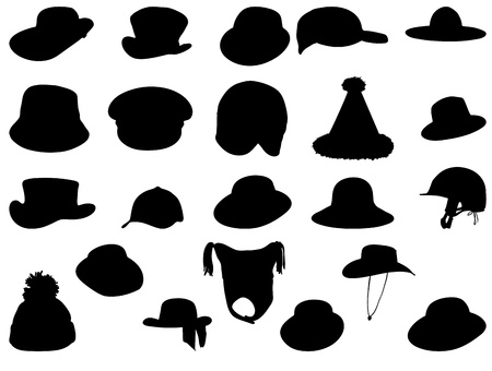 Wallets collection silhouette vector illustration Vector