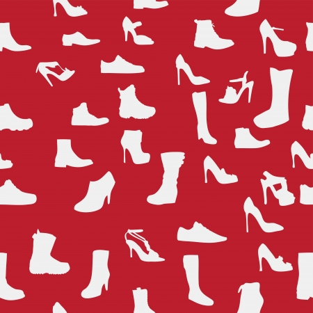 Shoes silhouette seamless pattern  vector illustration  eps10 Stock Vector - 15924081