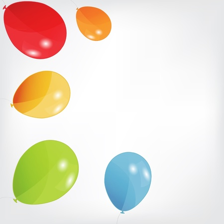 set of colored balloons, vector illustration  EPS 10 Stock Vector - 15924041