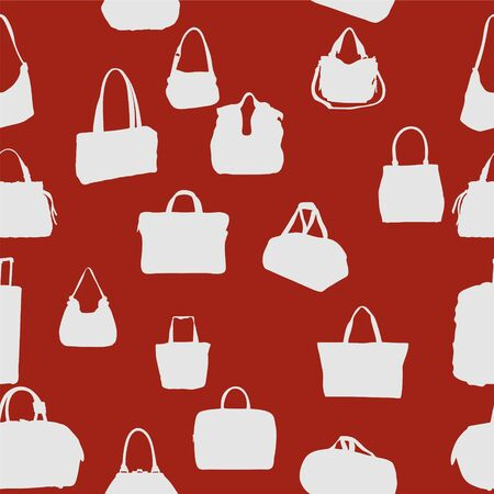 silhouette bag seamless pattern  vector illustration  EPS 10
