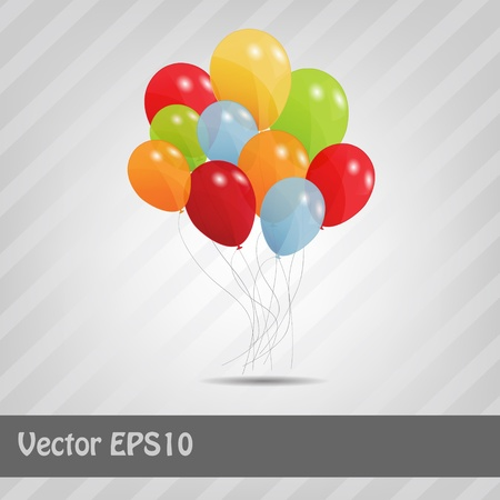 set of colored ballons, vector illustration  EPS 10 Stock Vector - 15924001