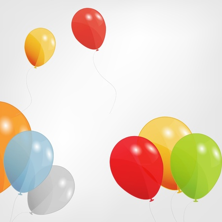 set of colored balloons, vector illustration  EPS 10 Stock Vector - 15924010