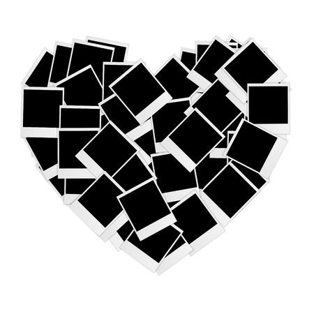 Instant photos in heart shape Stock Vector - 16188480
