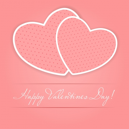 Happy Valentines Day card with heart Stock Vector - 16188488