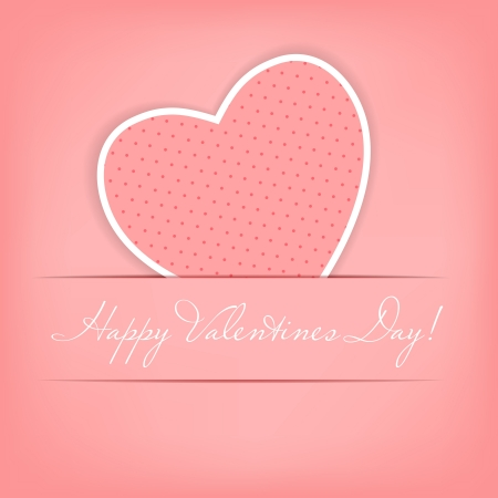 Happy Valentines Day card with heart  illustration Stock Illustration - 16181817