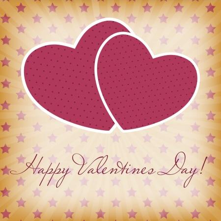dating and romance: Happy Valentines Day carta con il cuore