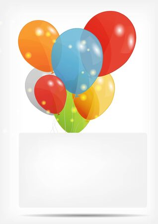 Gift card with balloons Stock Vector - 16327178