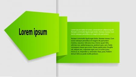 product presentation: labels for business design Illustration