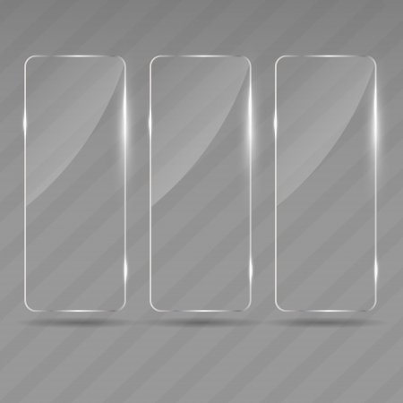 Glass frame on abstract metal background  Vector illustration  Vector