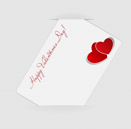 Happy Valentines Day card with heart  Vector illustration Stock Vector - 16731787