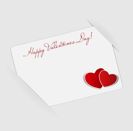 Happy Valentines Day card with heart  Vector illustration Stock Vector - 16731790