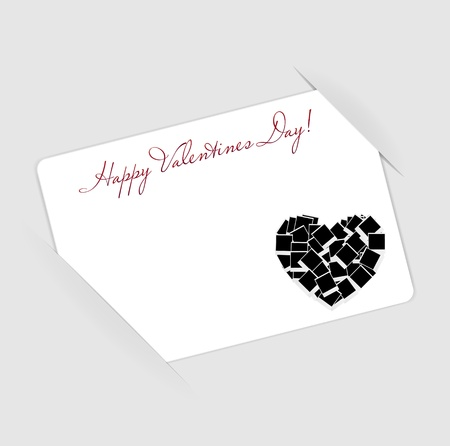 Happy Valentines Day card with heart  Vector illustration Stock Illustration - 16731767