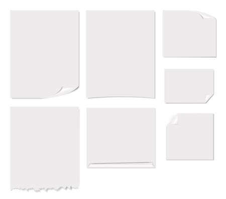 White blank page vector illustration Vector